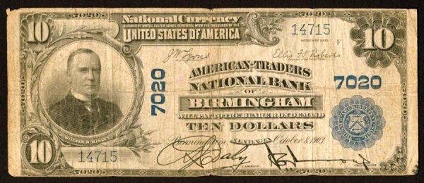 1605: Alabama    Birmingham,American-TradersNB,7020