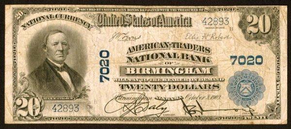 1606: Alabama    Birmingham,American-TradersNB,7020