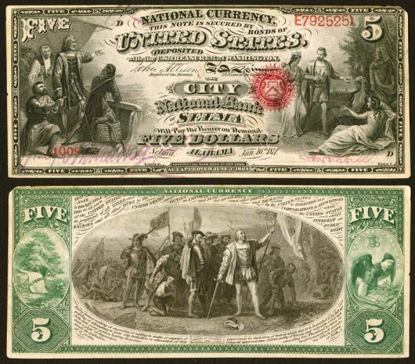 1611: Alabama    Selma,CityNB,1736    Fr.399$
