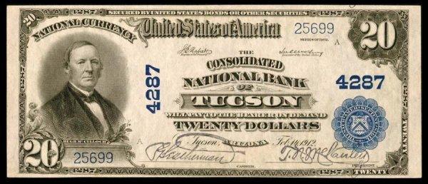 1613: Arizona    Tucson,ConsolidatedNB,4287    Fr.