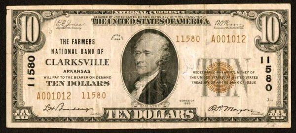1614: Arkansas    Clarksville,FarmersNB,11580    F