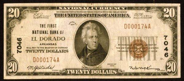 1615: Arkansas    ElDorado,FirstNB,7046    Fr.18