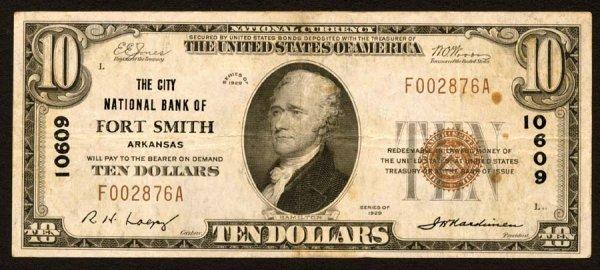 1616: Arkansas    FortSmith,CityNB,10609    Fr.1