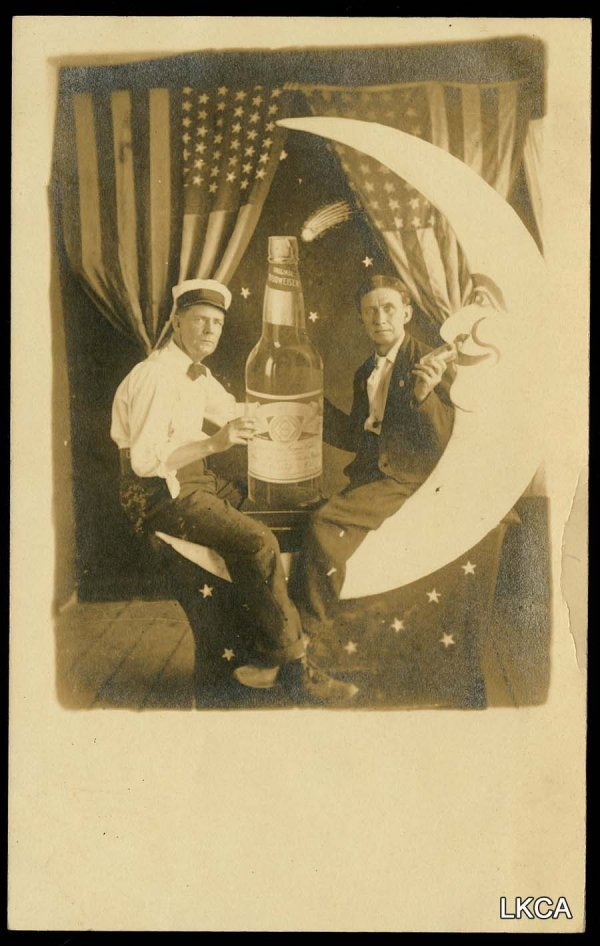 2: RPPC Paper Moon AB Budweiser Bottle Patriotic Shooti