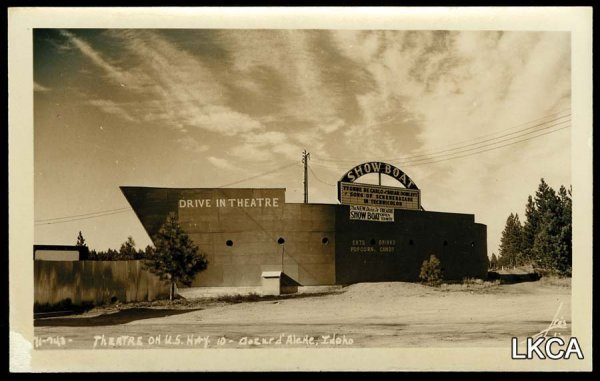 3:     RPPC Coeur d'Alene Idaho Drive in Theater US 10