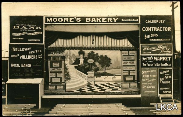 7:     RPPC Advertising Billboard Moores Bakery Bank Co