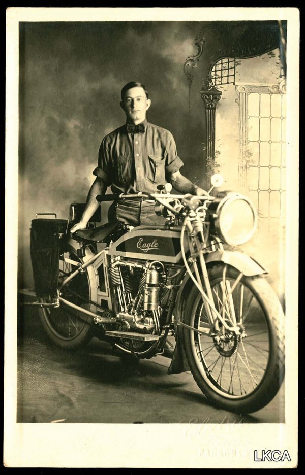 21: RPPC Parsons KS Eagle Motocycle Motor Cyclist     S