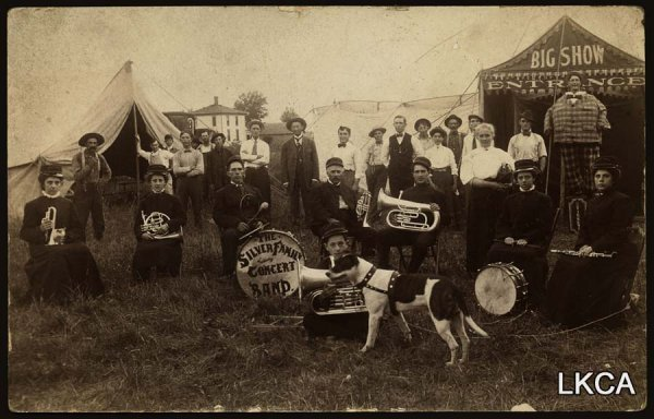 93:     RPPC Side Show, Band, Circus Tent     Edge and