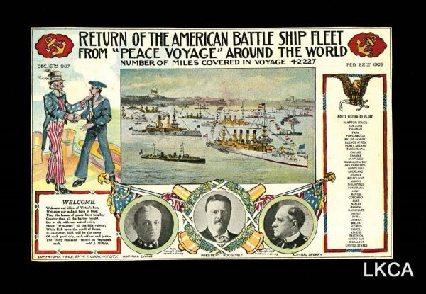 2598:     Great White Fleet 1907-09     Great poster st