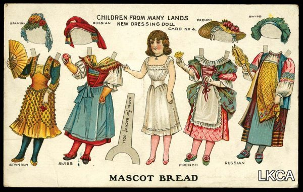 2614: Bread Advertising Paper Doll Cut-Out     Children