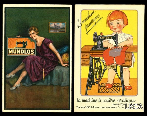 2615: Sewing Machine Poster Art Ads     Wonderful sewin