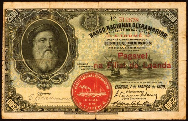 1005: Angola, BancoNacionalUltramarino, 252500