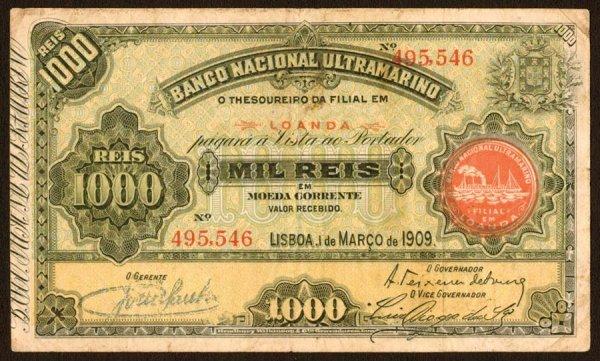 1006: Angola, BancoNacionalUltramarino, 271000