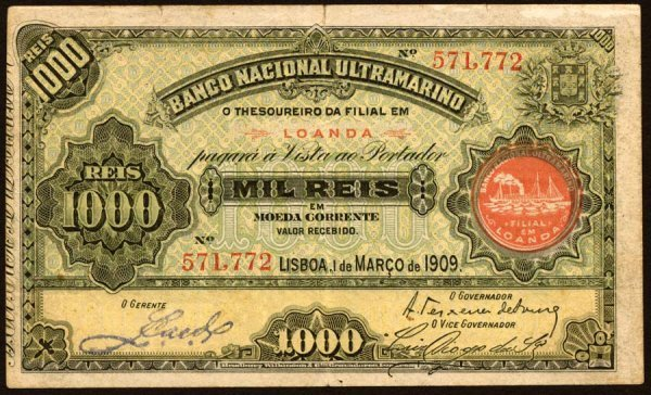 1007: Angola, BancoNacionalUltramarino, 271000