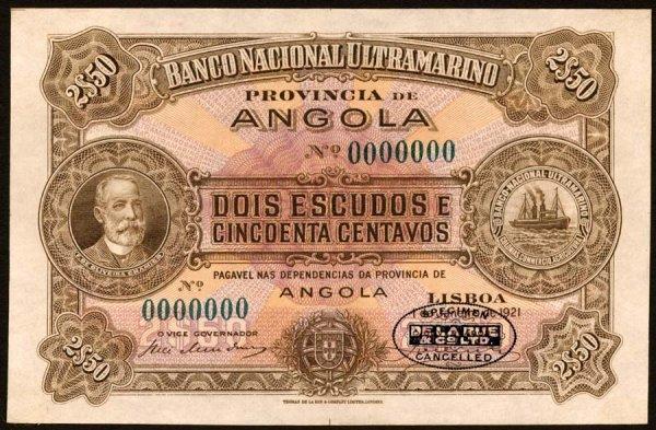 1009: Angola, BancoNacionalUltramarino, 56?21/