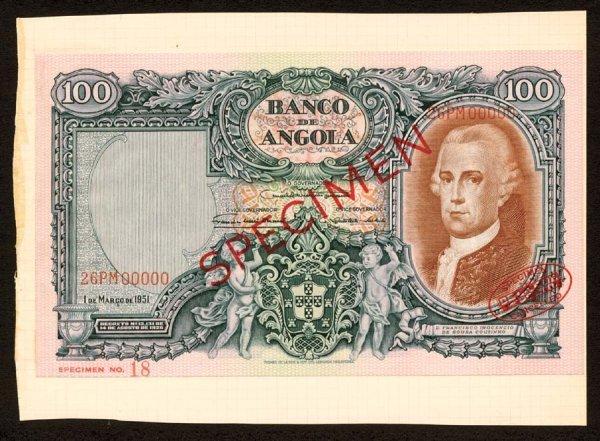 1014: Angola, BancodeAngola, 85?100Angolares