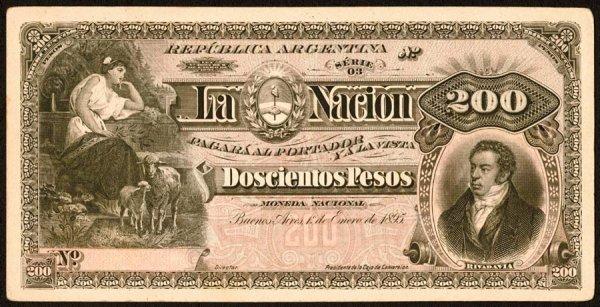 1020: Argentina, BancodelaNacionArgentina, 225?