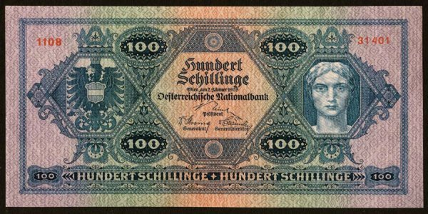 1023: Austria, AustrianNationalBank, 91100Schi