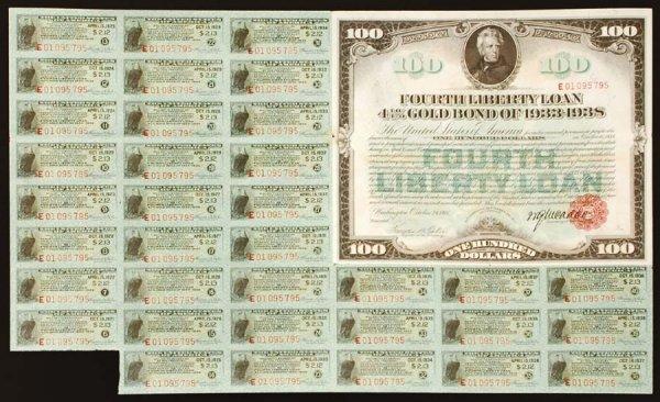 2004: $100FourthLibertyLoanGoldBondof1918