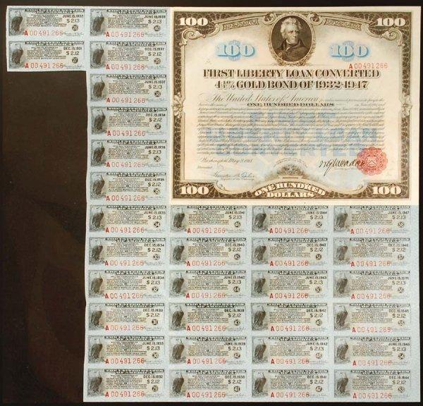 2005: $100FirstLibertyLoanConvertedGoldBondof