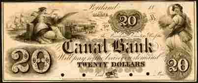 3143: Maine�    $20����Canal�Bank,�Portland����1850s���