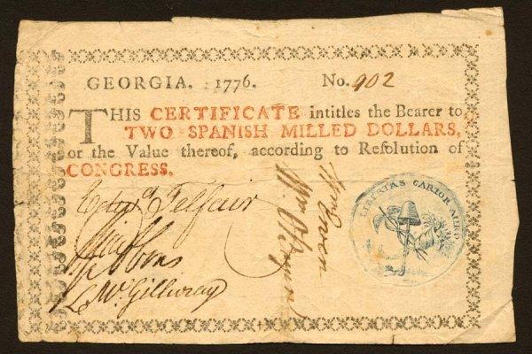 8: Georgia   $21776   Thisnotehasabluevignet