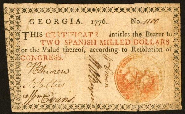 9: Georgia   $21776   Thisattractive$2notehas