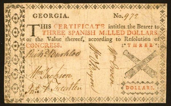 10: Georgia   $31776(undated)   Thisissuewasp
