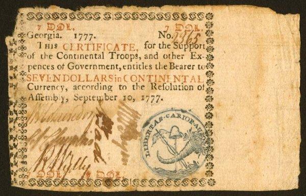 18: Georgia   $7September10,1777   Thisisthe