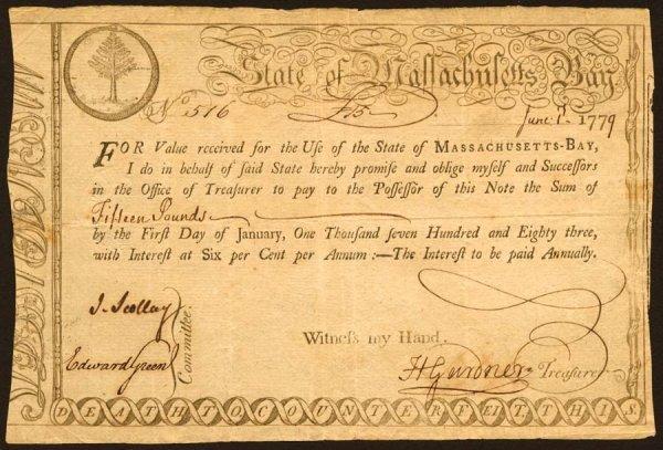 24: Massachusetts   £15June1,1779   Thisisa