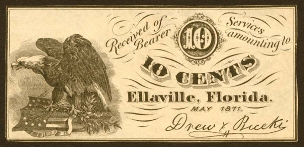 122: Florida   10¢Ellaville   R-7.May1871.Drew