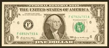 1403: Federal Reserve Notes $1 1969 F Atlan