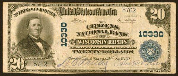 3902: Wisconsin- WisconsinRapids,CitizensNB,10330