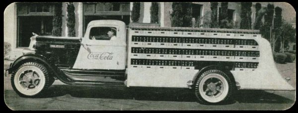 964A: Printed, Advertising, Early, CocaColaTruck,