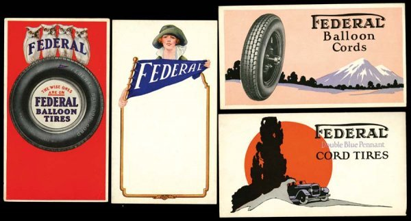 976A: Printed, Advertising, Early, FederalTireAdve