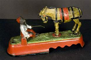 "Mechanical Cast Iron Bank, ""Always Did 'Spise a Mule"""