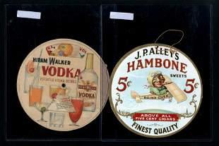 Hiram Walker Vodka Sign & J.P. Alley's Hambone Cigars,