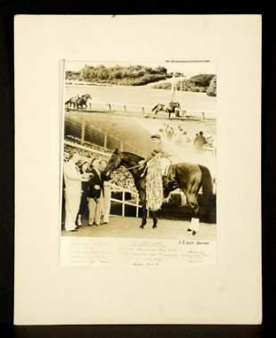 Original Winner's Circle Photograph of Citation, 1951