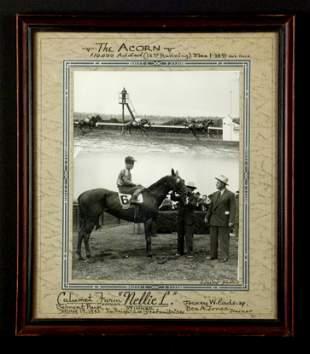 Original Winner's Circle Photograph of Nellie L,1943
