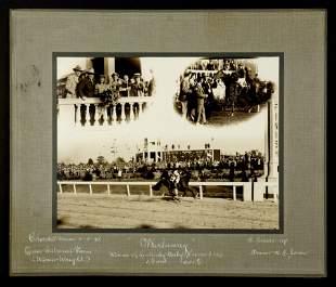 Original Winner's Circle Photograph of Whirlaway, 1941