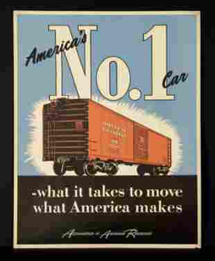 Association of American Railroads Travel Poster