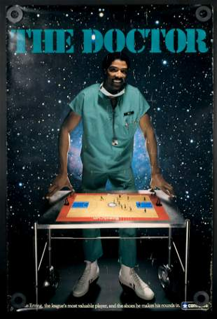 Julius Erving for Converse Advertising Poster