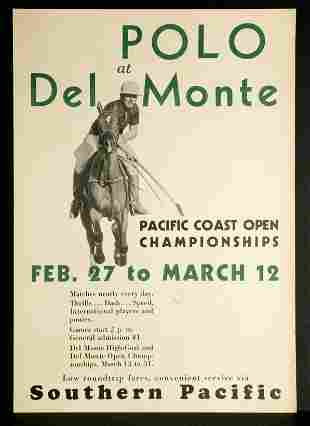 Polo at Del Monte / Southern Pacific Railroad Travel