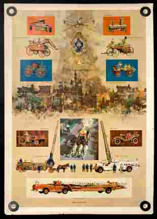 History of Fire Fighting  Poster