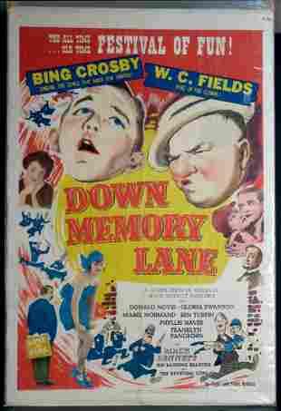 Down Memory Lane Movie Poster, 1949