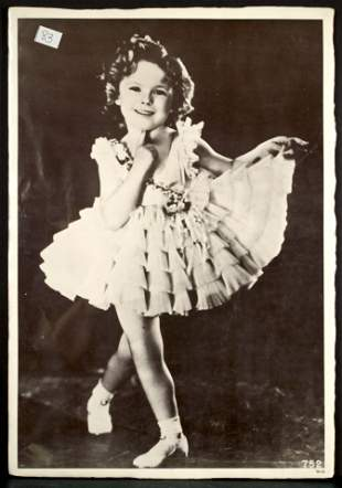 Shirley Temple Autographed Photo Movie Poster