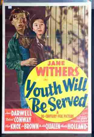 Youth Will Be Served Movie Poster, 1940