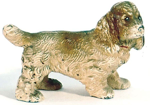 23: Cold Painted Cast Iron Cocker Spaniel Dog