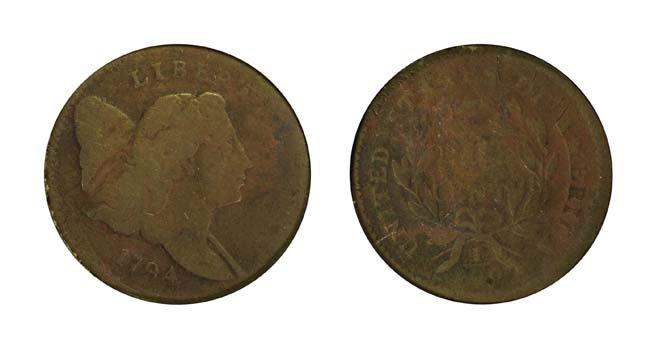 1794 1/2 Cent Head Right