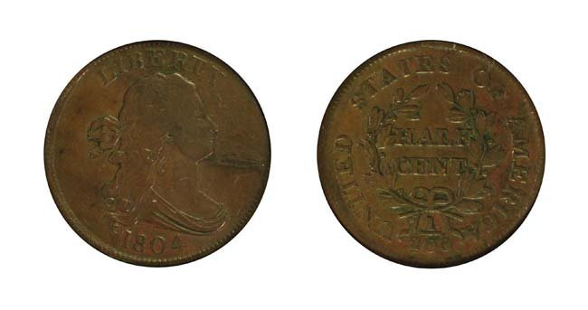 1804 1/2 Cent - Crosslet 4, Stems